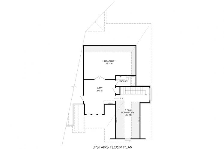 European House Plan - Center Hill 27566 - 2nd Floor Plan
