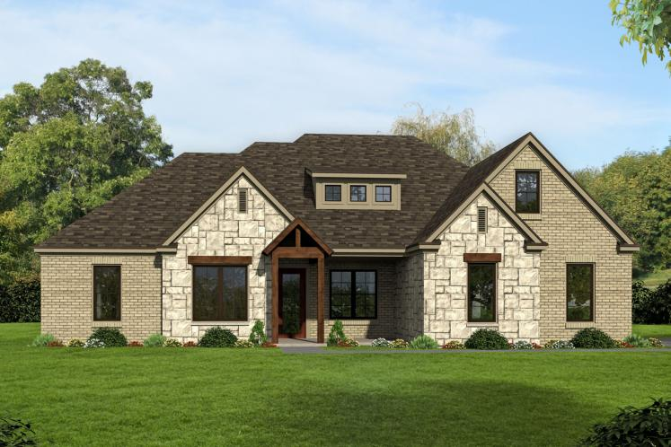 Craftsman House Plan - Center Hill 27566 - Front Exterior