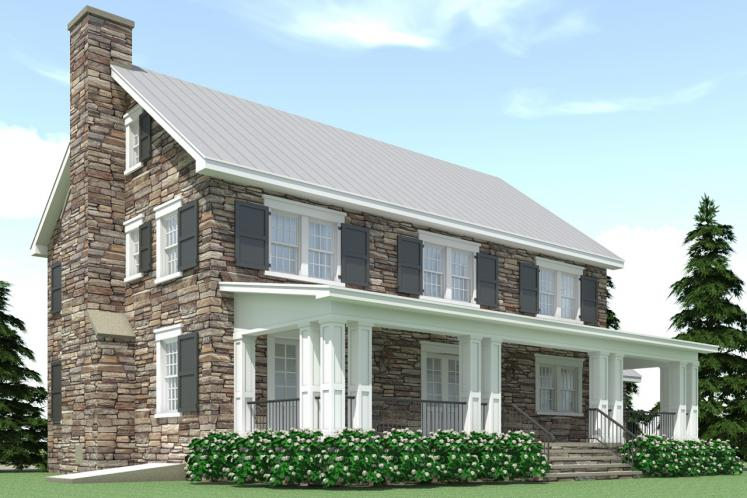 Classic House Plan - Ansted 27659 - Rear Exterior