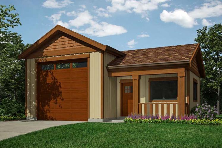 Country Garage Plan -  27736 - Front Exterior