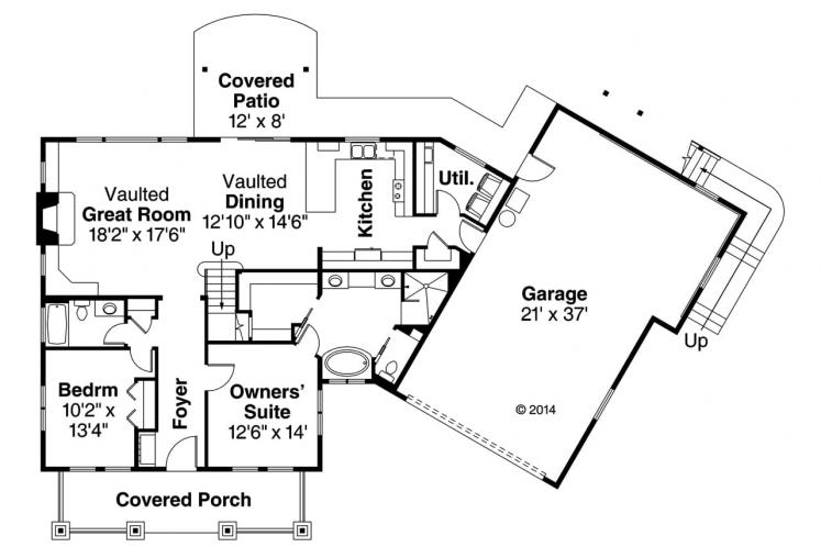 Country House Plan - Alexandria 27798 - 1st Floor Plan