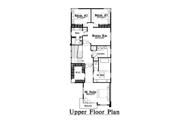 Contemporary House Plan -  27876 - 2nd Floor Plan
