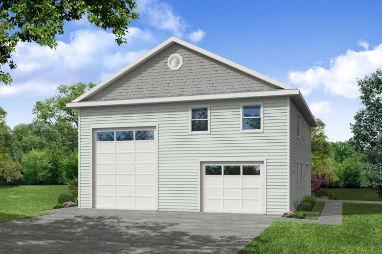 Traditional Garage Plan -  27896 - Front Exterior