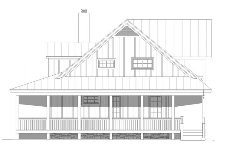 Country House Plan - Riverneck 27927 - Right Exterior