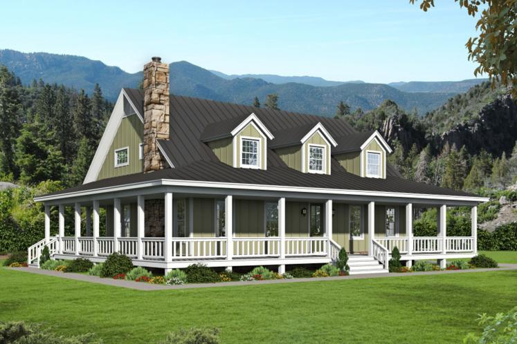 Country House Plan - Riverneck 27927 - Front Exterior