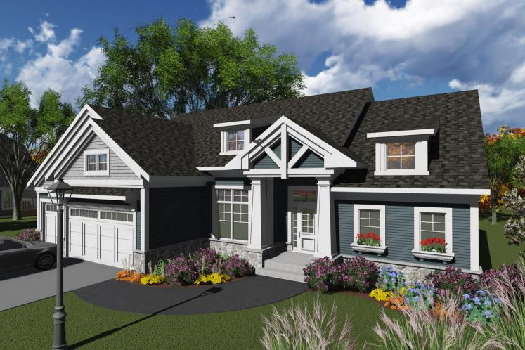 Craftsman House Plan -  27985 - Front Exterior