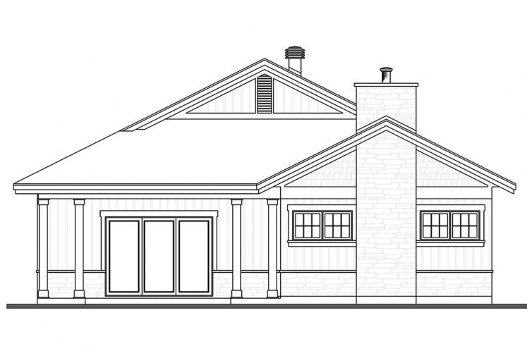 Country House Plan - Northaven 28067 - Rear Exterior