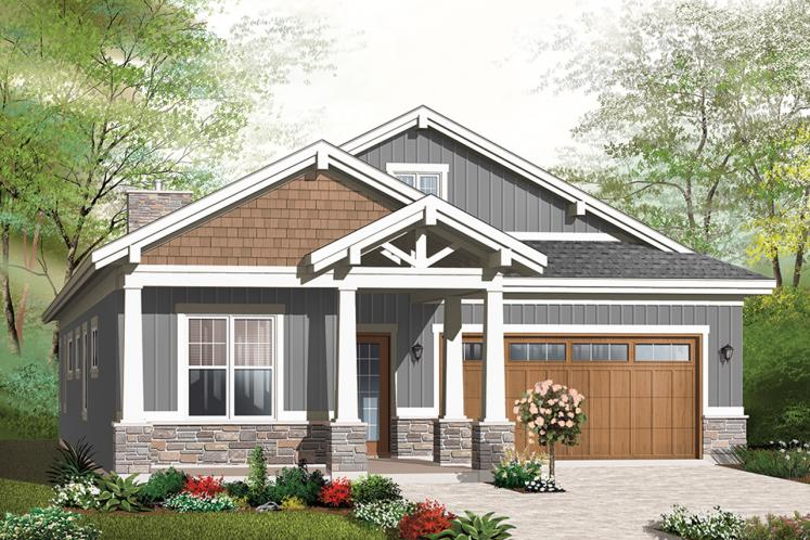 Craftsman House Plan - Northaven 28067 - Front Exterior