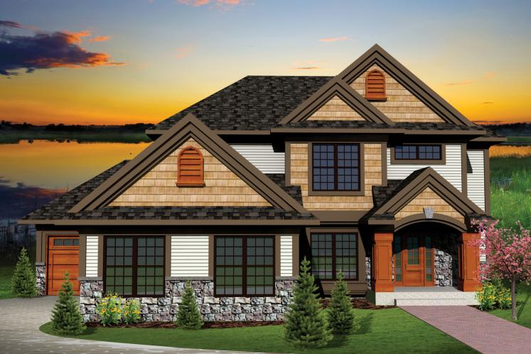 Traditional House Plan -  28120 - Front Exterior