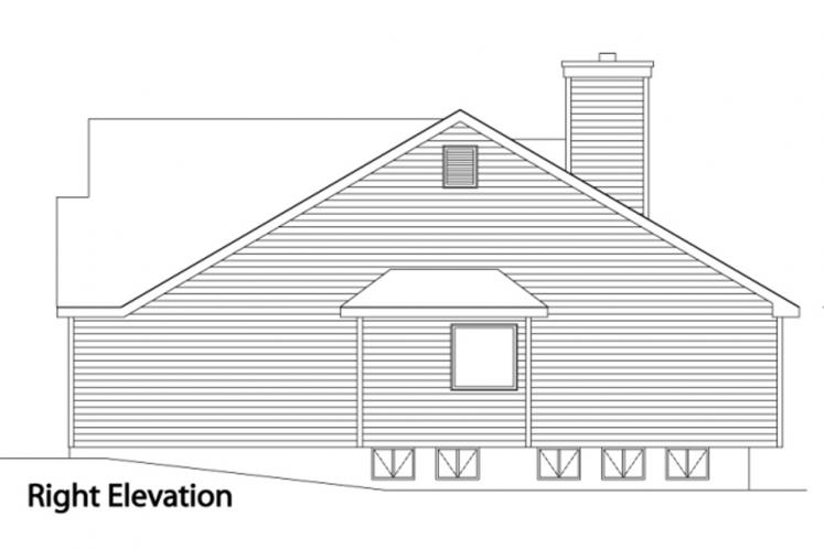 Ranch House Plan -  28249 - Right Exterior