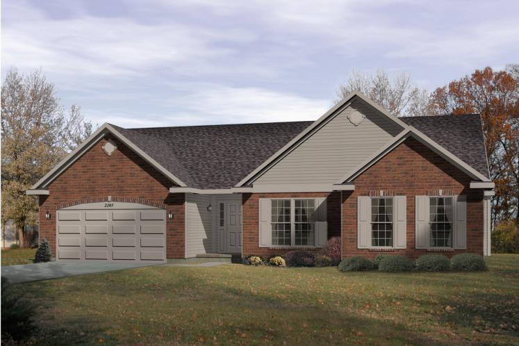 Ranch House Plan -  28249 - Front Exterior