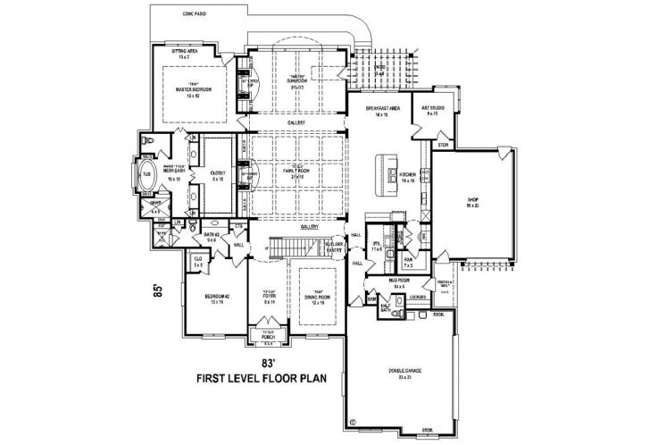 Classic House Plan -  28267 - 1st Floor Plan