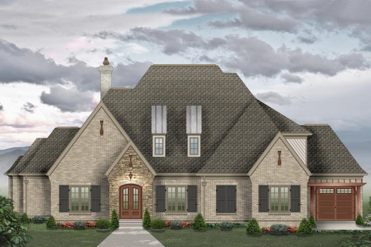European House Plan -  28267 - Front Exterior