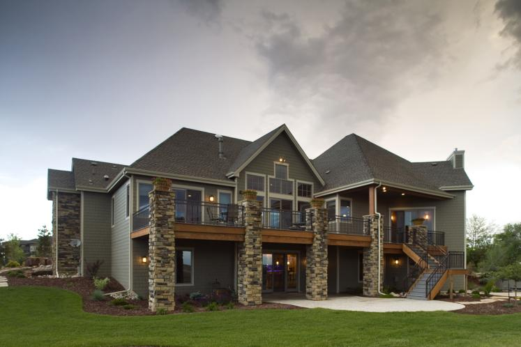 Lodge Style House Plan - Creekside 28380 - Rear Exterior