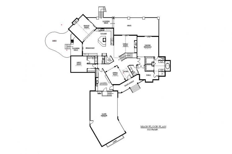 Lodge Style House Plan - Creekside 28380 - 1st Floor Plan