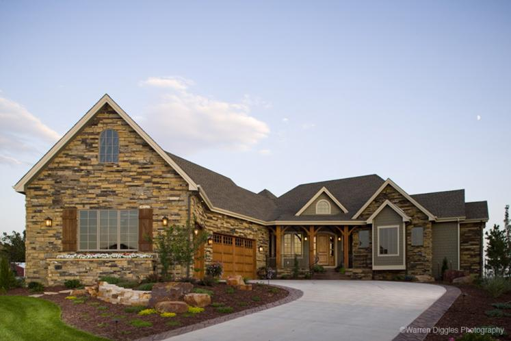 Craftsman House Plan - Creekside 28380 - Front Exterior
