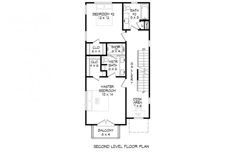 Modern House Plan - Shephard 28417 - 2nd Floor Plan