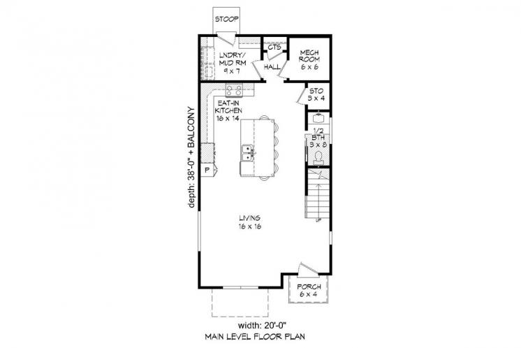 Contemporary House Plan - Shephard 28417 - 1st Floor Plan