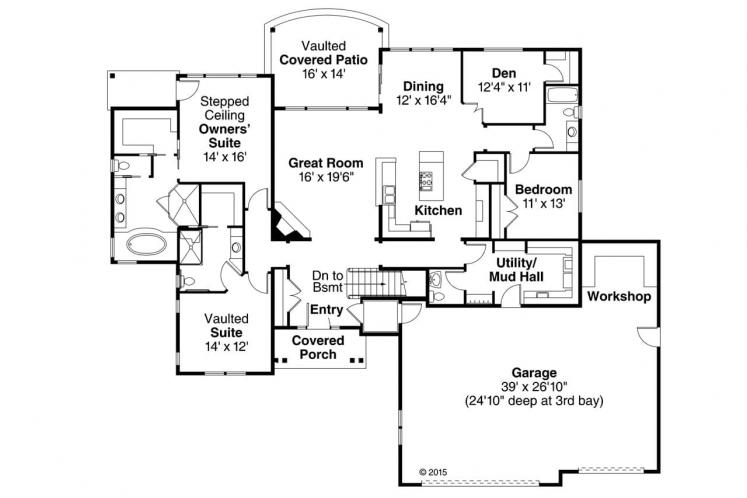 Craftsman House Plan - Little Creek 28489 - 1st Floor Plan