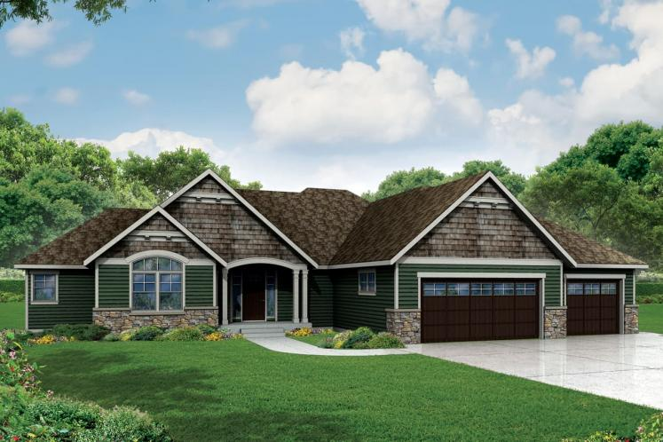 Ranch House Plan - Little Creek 28489 - Front Exterior