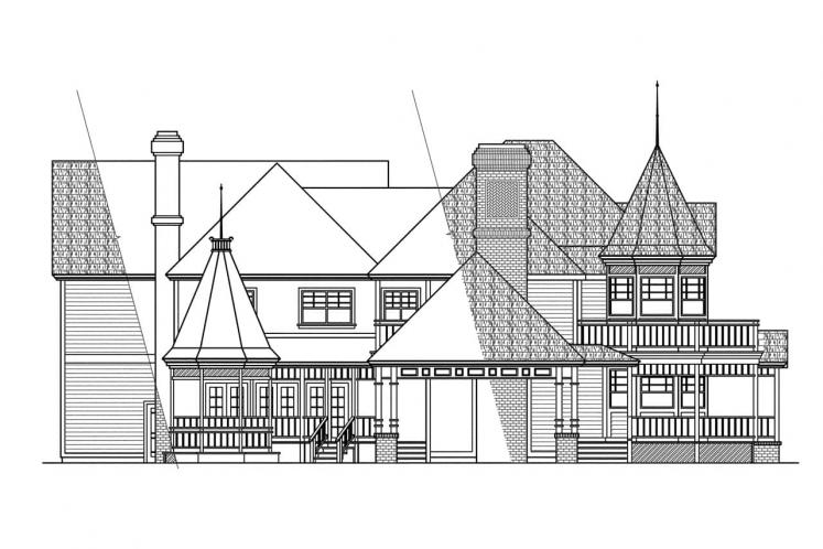 Colonial House Plan - Victorian 28523 - Left Exterior
