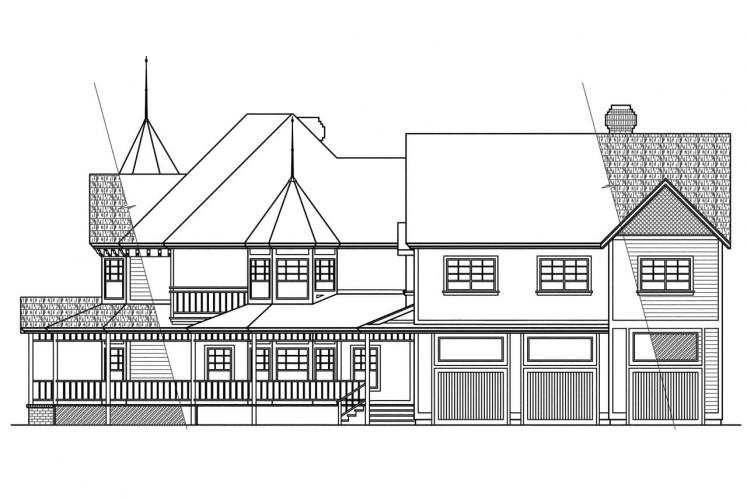 Victorian House Plan - Victorian 28523 - Right Exterior