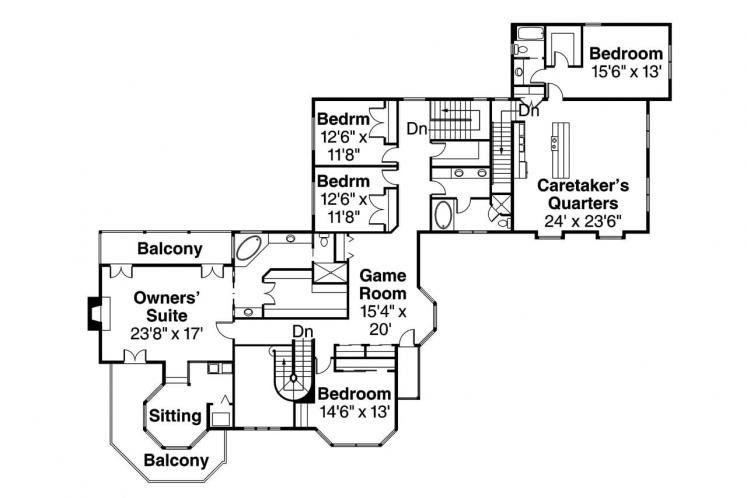 Colonial House Plan - Victorian 28523 - 2nd Floor Plan