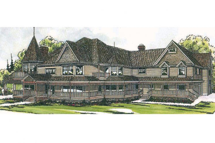 Victorian House Plan - Victorian 28523 - Front Exterior