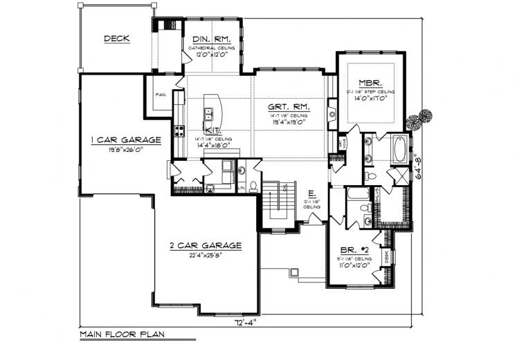 Modern House Plan -  28613 - 1st Floor Plan