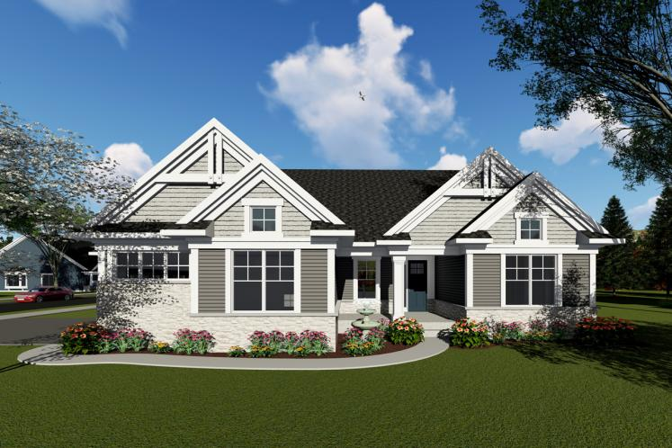 Ranch House Plan -  28613 - Front Exterior