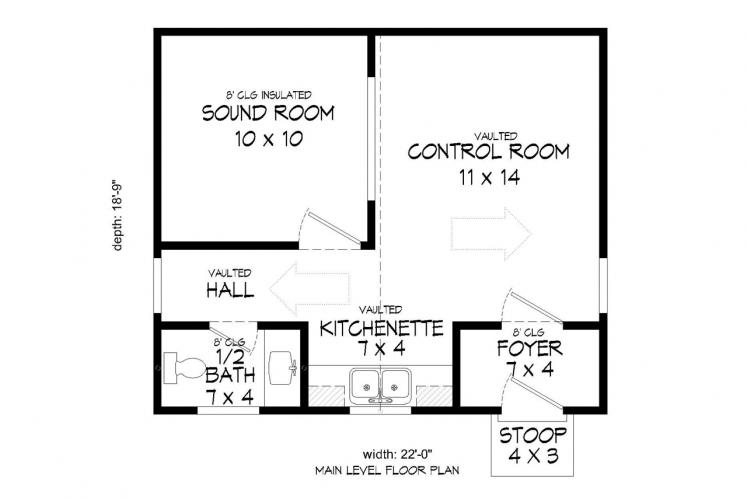 Traditional  - Music Studio 28640 - 1st Floor Plan