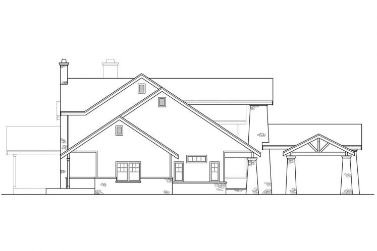 Lodge Style House Plan - Timberfield 28655 - Left Exterior
