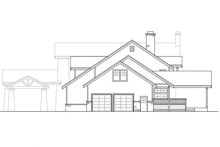 Craftsman House Plan - Timberfield 28655 - Right Exterior