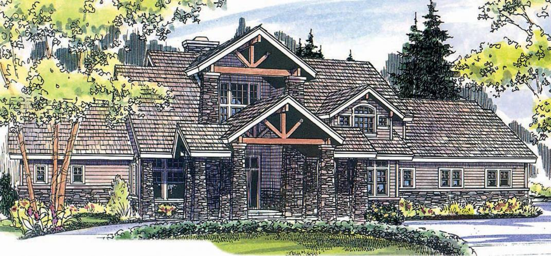 Lodge Style House Plan - Timberfield 28655 - Front Exterior