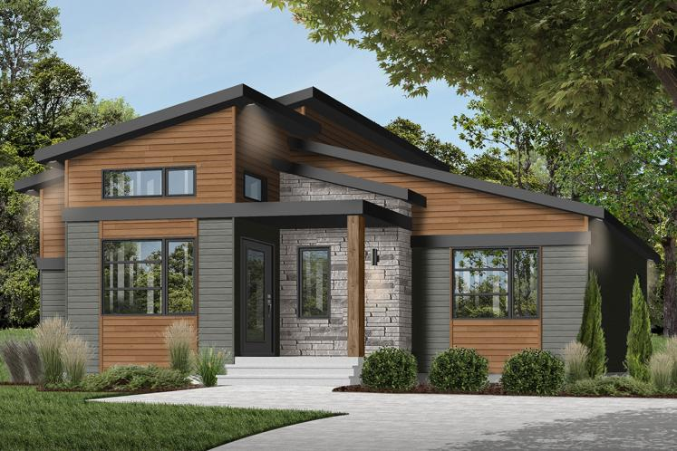 Contemporary House Plan - Oxford 28667 - Front Exterior