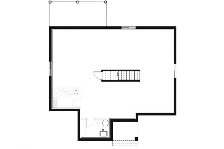 Modern House Plan - Oxford 28667 - Basement Floor Plan