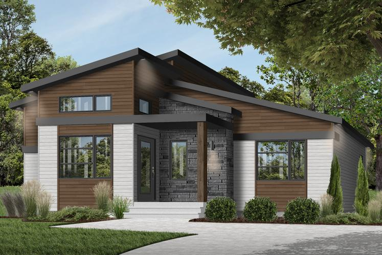 Modern House Plan - Oxford 28667 - Front Exterior