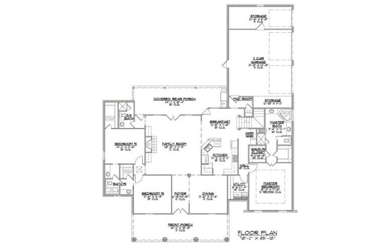 Classic House Plan - Jefferson 28766 - 1st Floor Plan