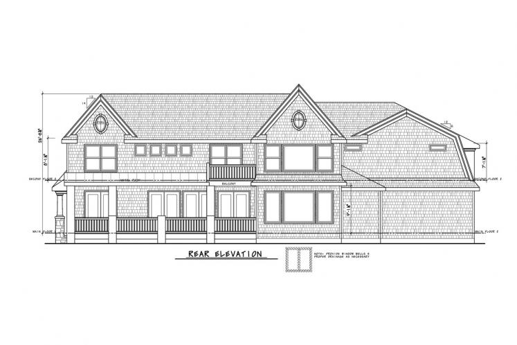 Country House Plan - Hattie Mim 28769 - Rear Exterior
