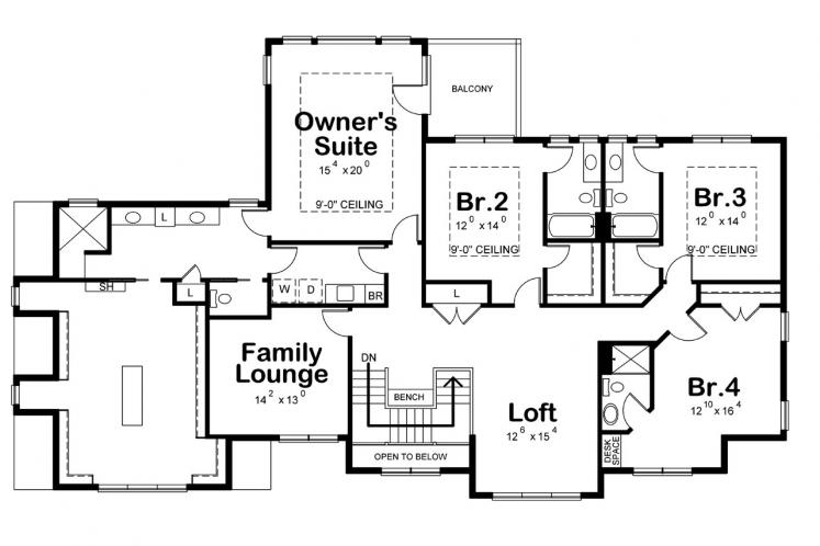 Country House Plan - Hattie Mim 28769 - 2nd Floor Plan