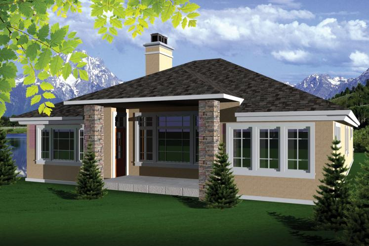 Southwest House Plan -  28817 - Rear Exterior