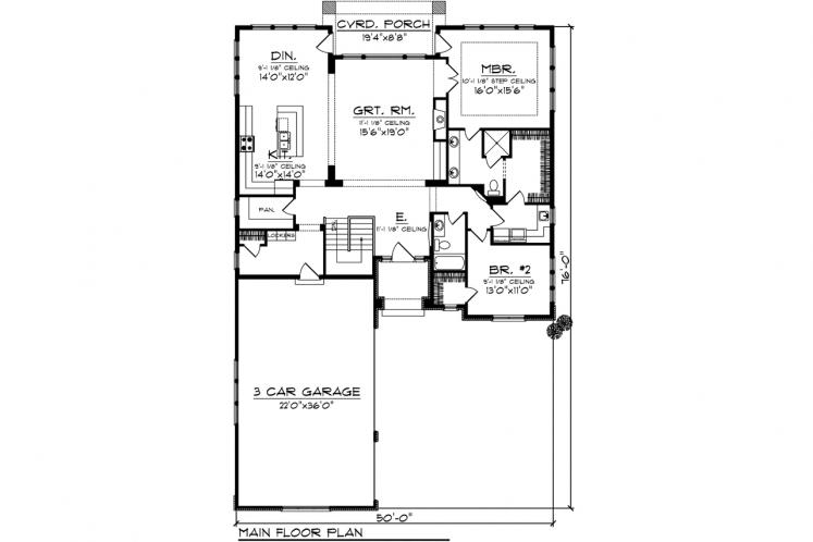 Spanish House Plan -  28817 - 1st Floor Plan