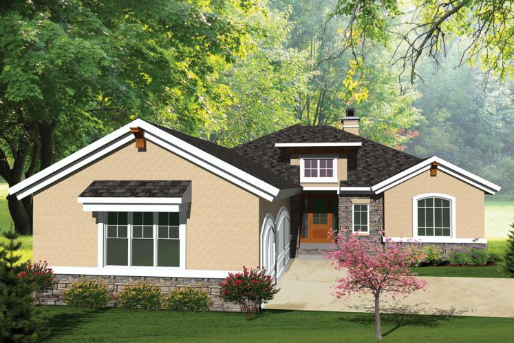 Ranch House Plan -  28817 - Front Exterior