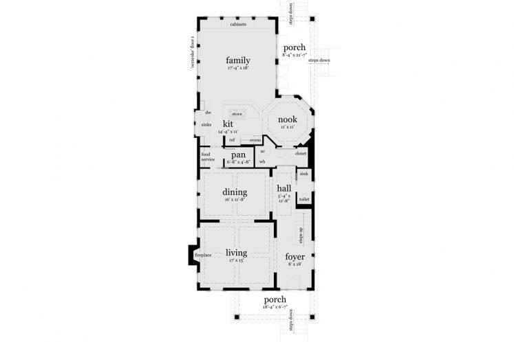 Craftsman House Plan - Ocracoke 28983 - 1st Floor Plan