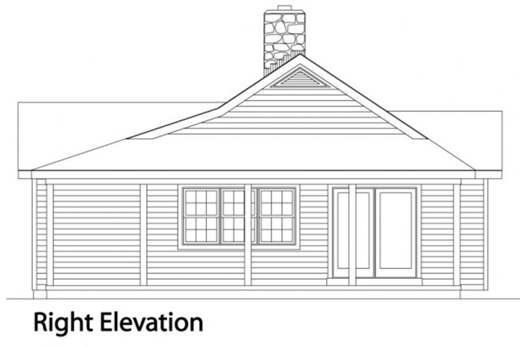 Traditional House Plan -  28993 - Right Exterior