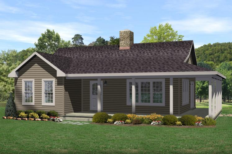 Ranch House Plan -  28993 - Front Exterior