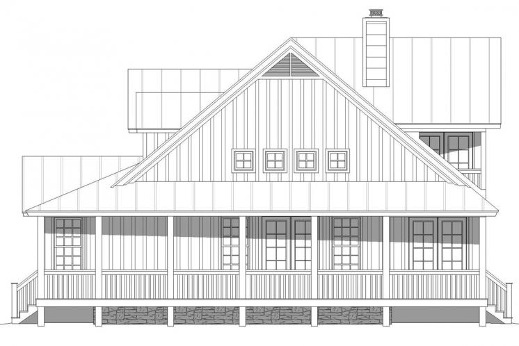 Country House Plan - Horton Falls 29012 - Right Exterior