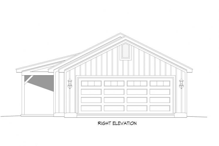 Ranch House Plan - Biscuit 29075 - Right Exterior