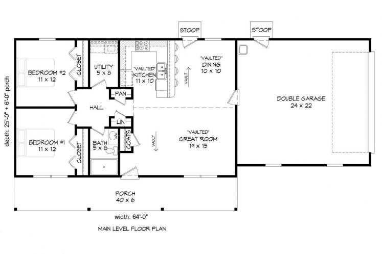 Traditional House Plan - Biscuit 29075 - 1st Floor Plan