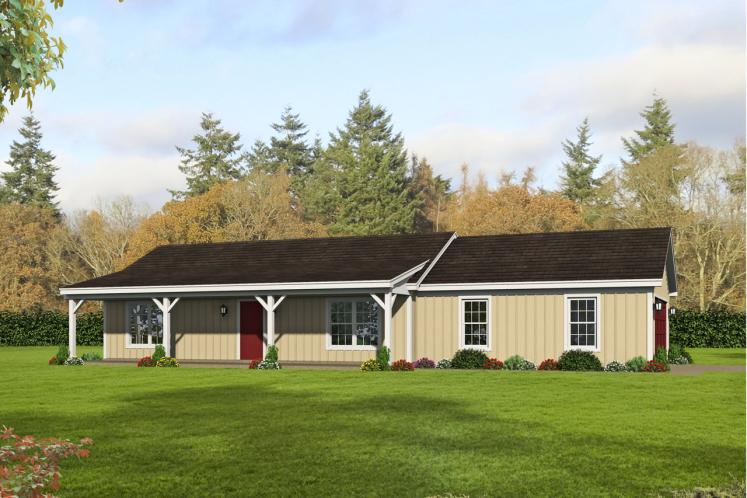 Ranch House Plan - Biscuit 29075 - Front Exterior